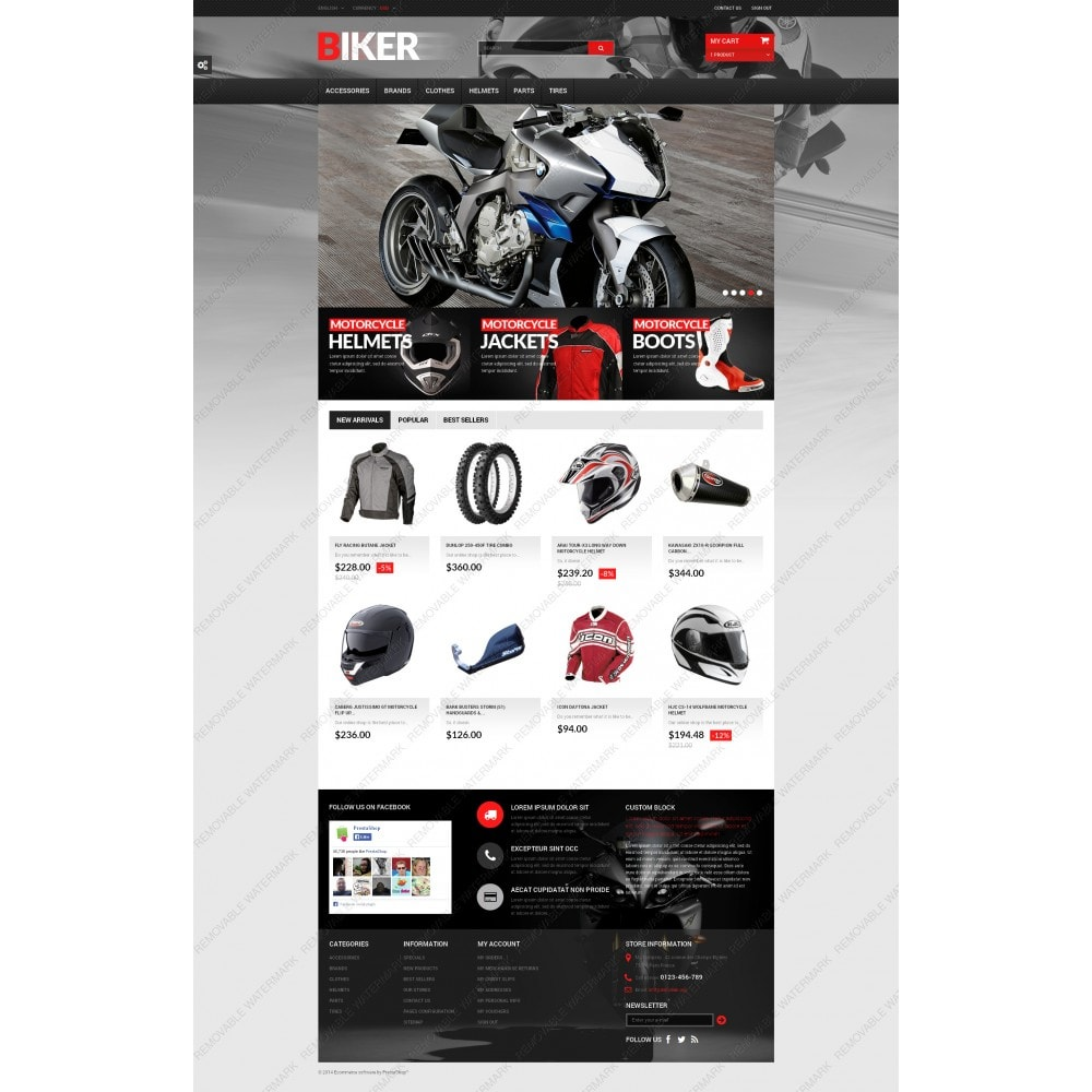 theme - Automotive & Cars - Biker - 5