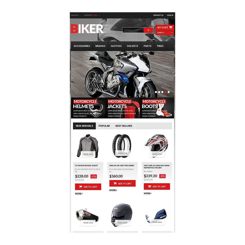 theme - Automotive & Cars - Biker - 7