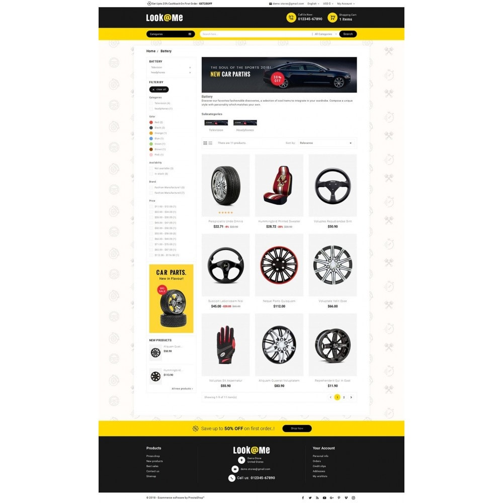 theme - Automotive & Cars - Look me Auto Parts - 3