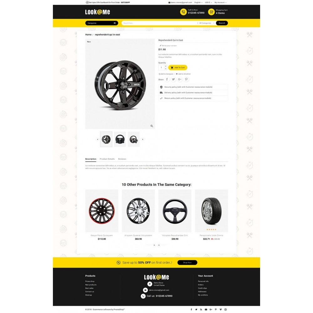 theme - Automotive & Cars - Look me Auto Parts - 5