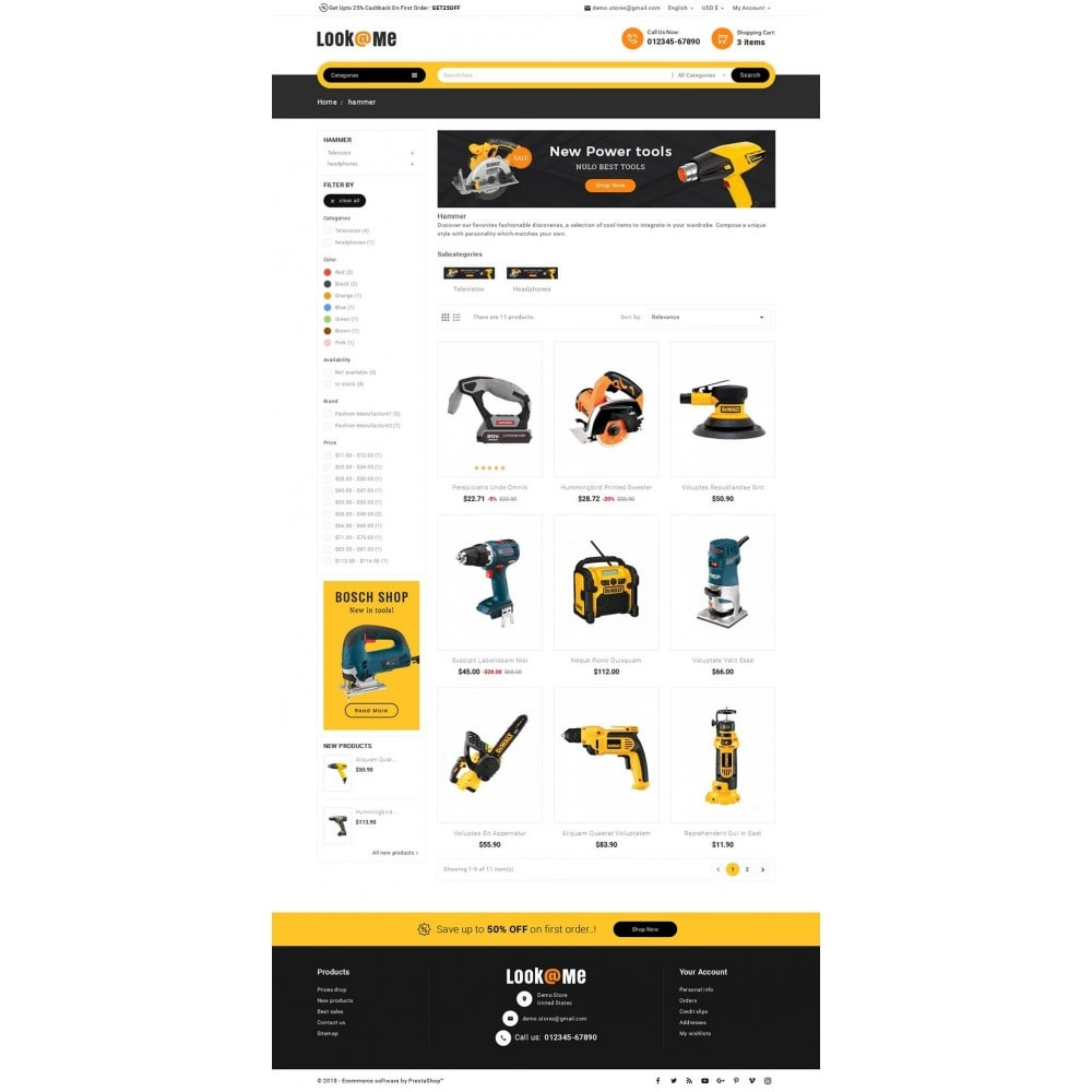 theme - Электроника и компьютеры - Look me Tools Equipment - 3