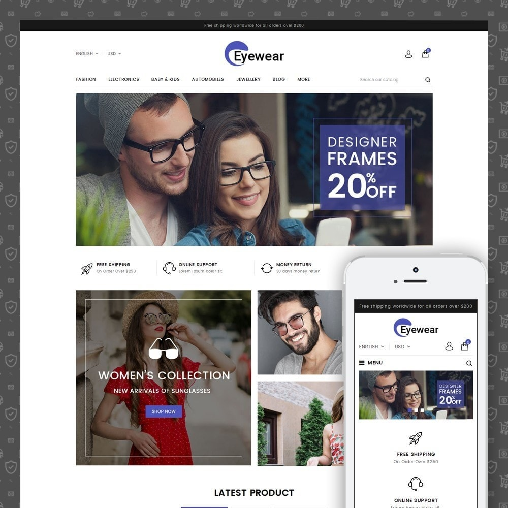 theme - Moda & Calzature - EyeWear - Glasses Store - 1