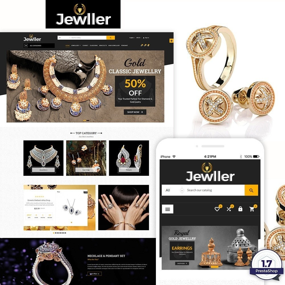 theme - Biżuteria & Akcesoria - Jewller – Jewelry and Accessories  Super Store - 1