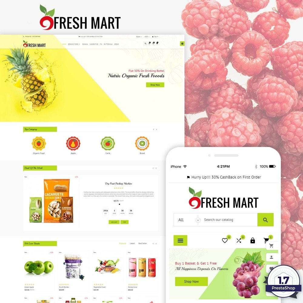 theme - Alimentation & Restauration - Fresh Mart – Organic Food Big Super Store - 1