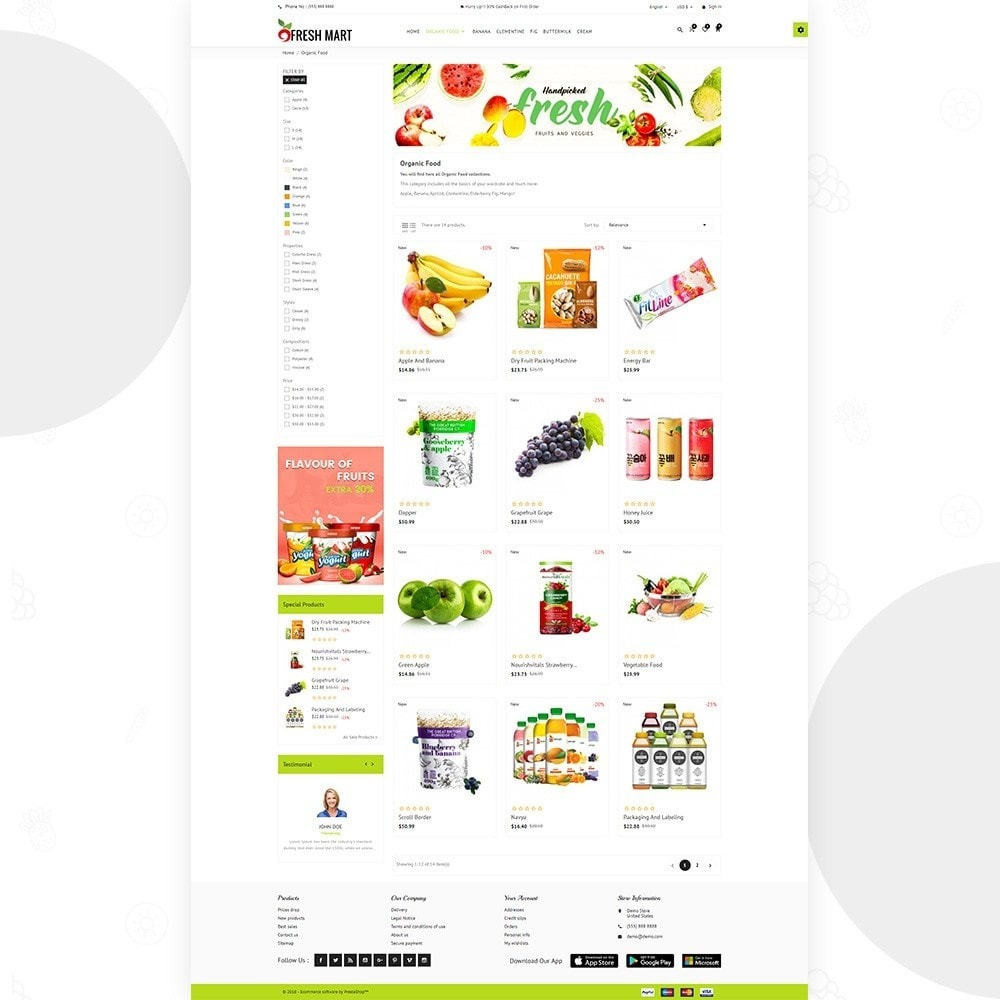 theme - Alimentation & Restauration - Fresh Mart – Organic Food Big Super Store - 3