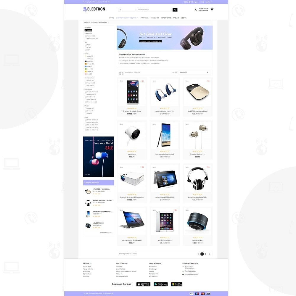 theme - Elettronica & High Tech - Electron – Electronics and Digital Super Store - 3
