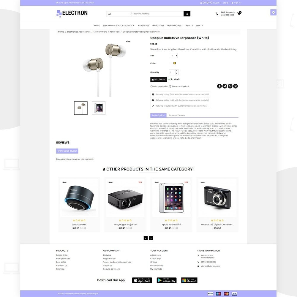 theme - Elettronica & High Tech - Electron – Electronics and Digital Super Store - 4
