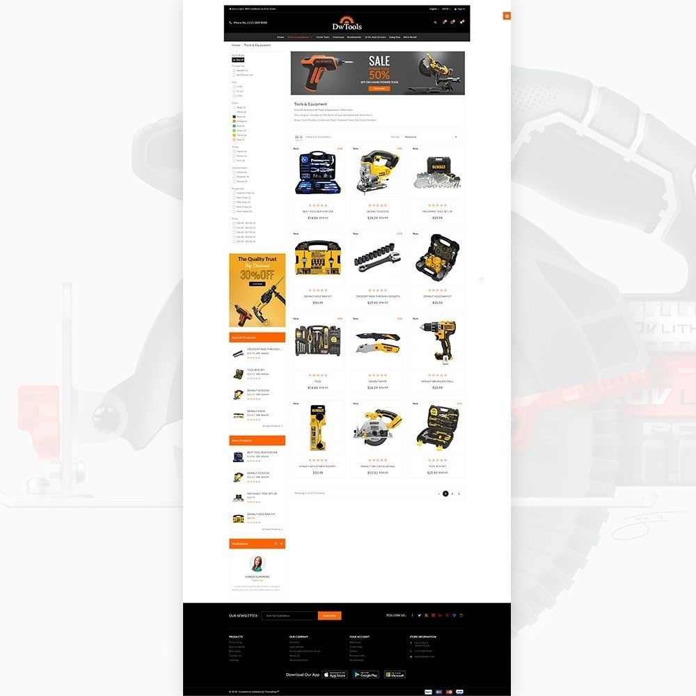 theme - Auto & Moto - DW Tools – Tools and Machine Super Store - 3