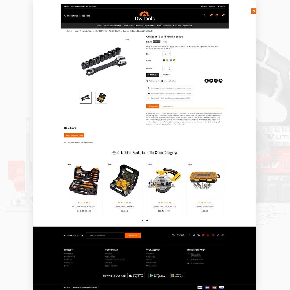 theme - Auto & Moto - DW Tools – Tools and Machine Super Store - 4