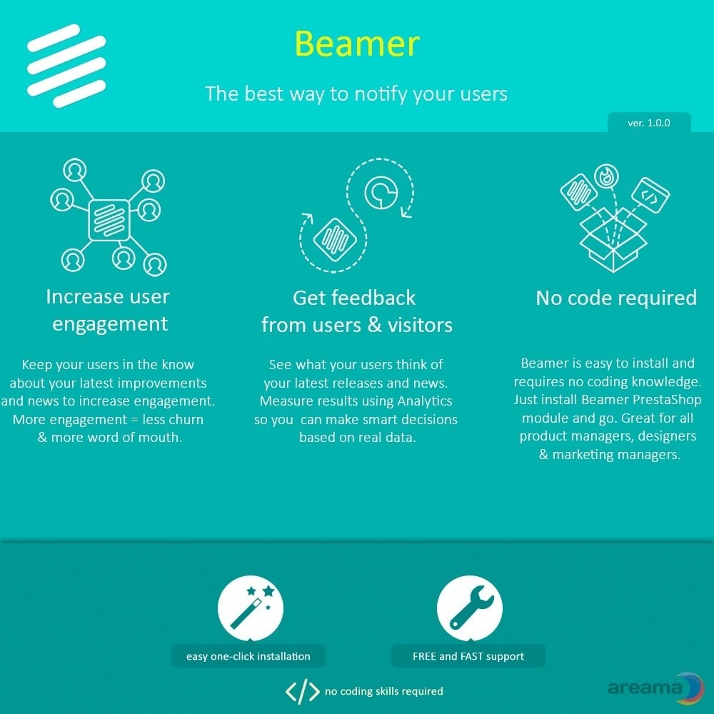 module - Blog, Forum & Nieuws - Beamer – The best way to notify your users - 1