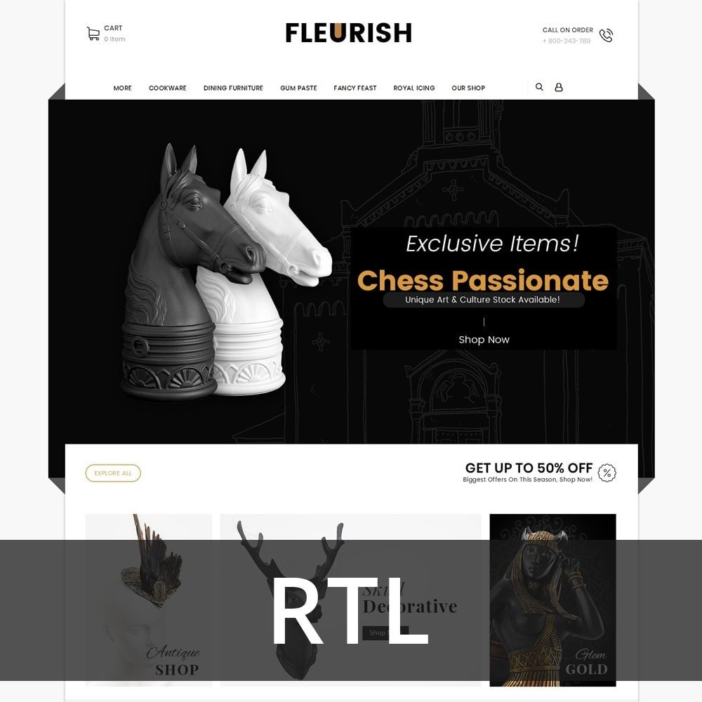 theme - Arte e Cultura - Fleurish - Art Shop - 2