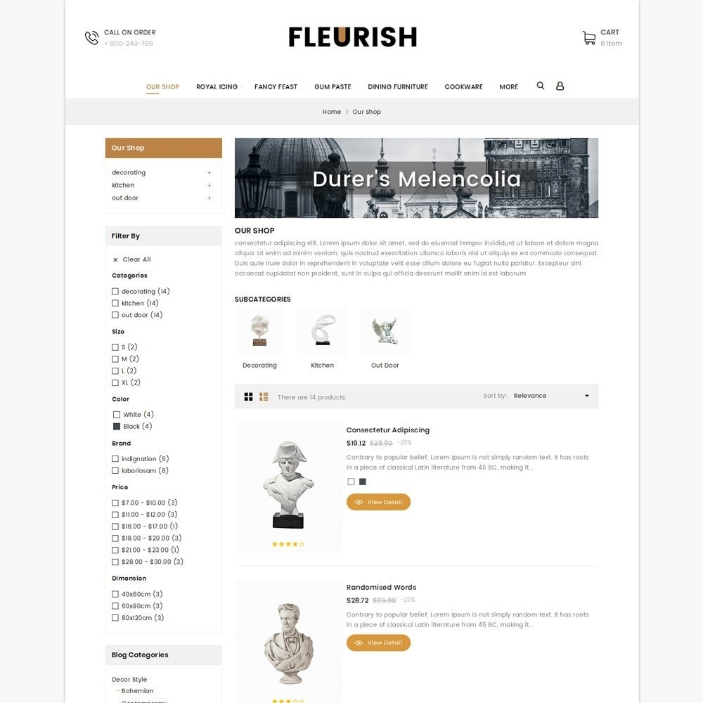 theme - Arte e Cultura - Fleurish - Art Shop - 5