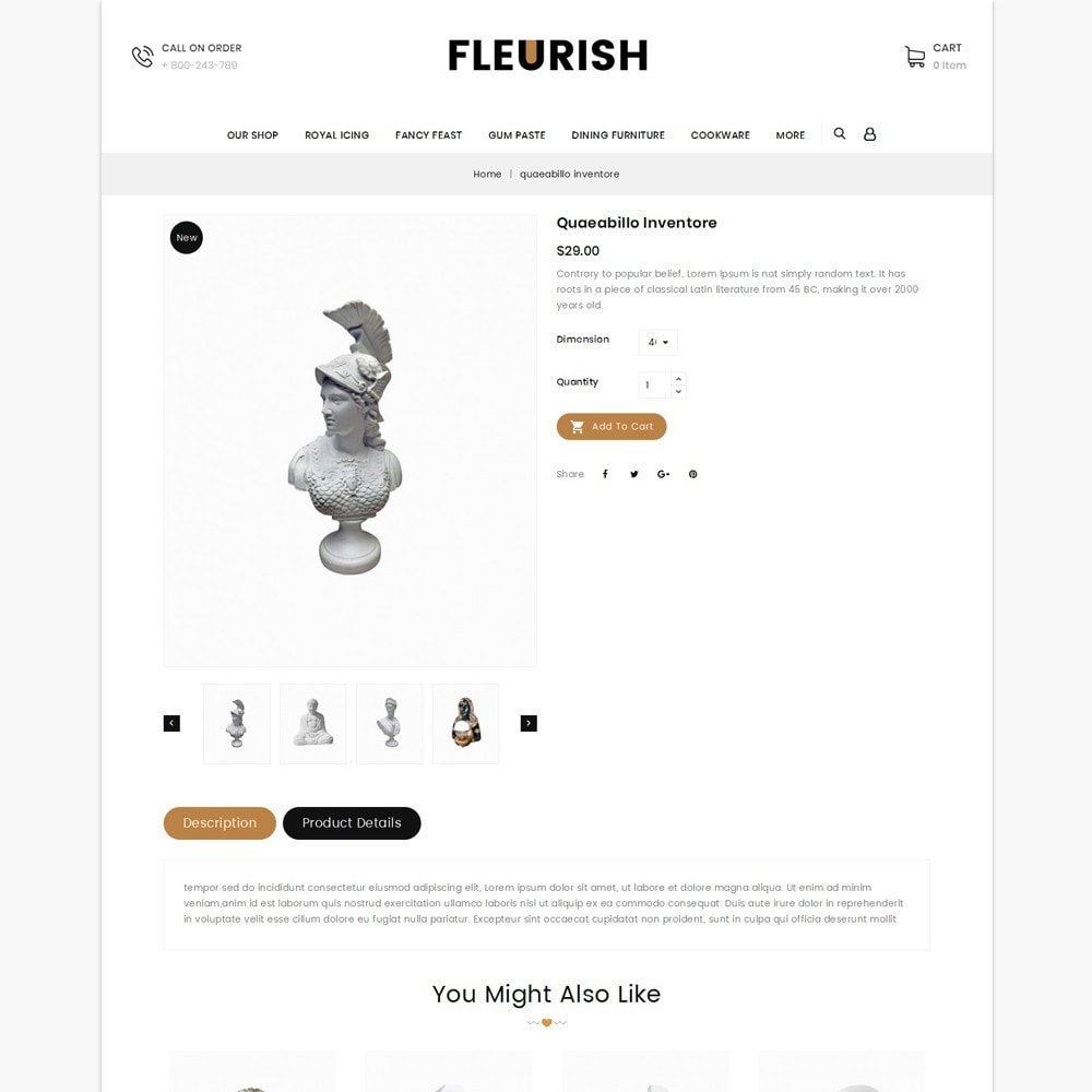theme - Arte e Cultura - Fleurish - Art Shop - 6