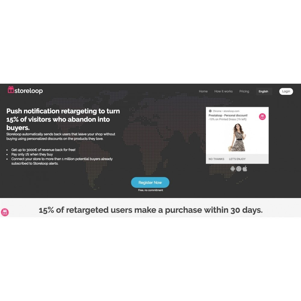 module - Emails & Notificaties - Automatic remarketing by push notifications - 1