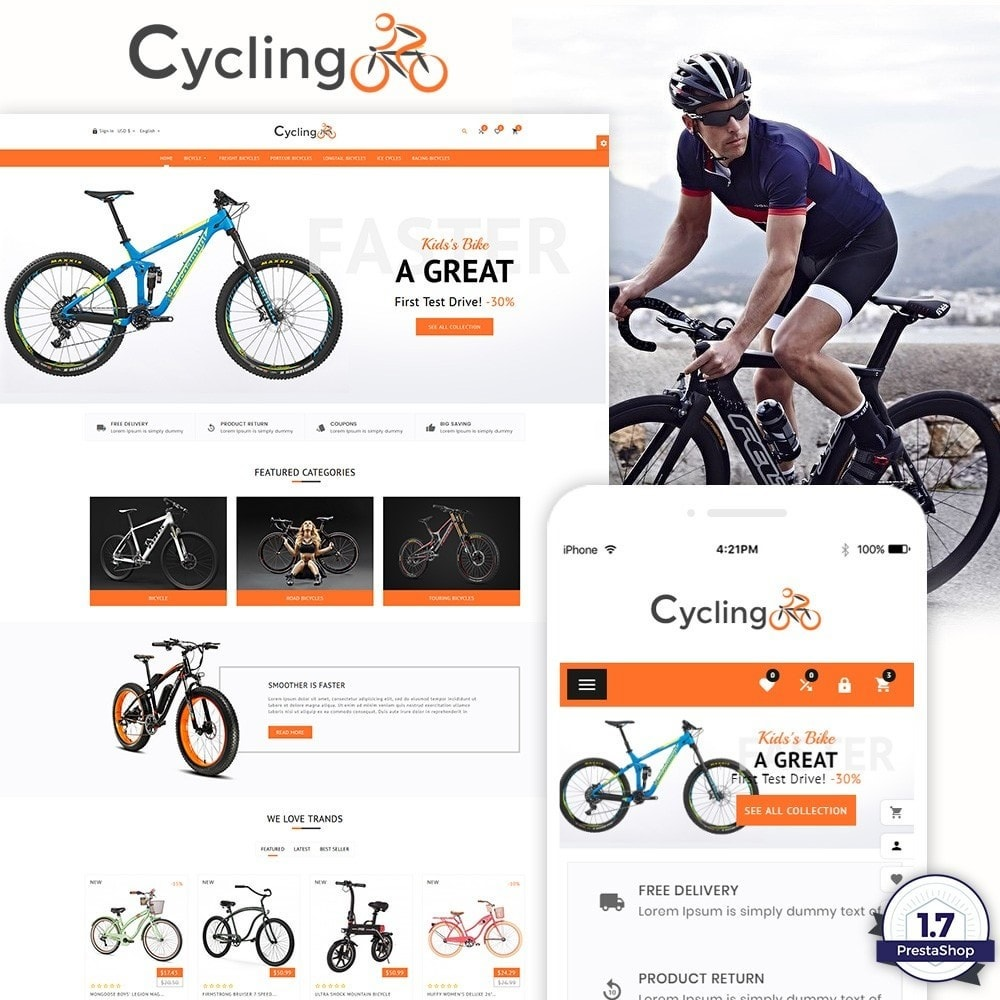 theme - Sport, Loisirs & Voyage - Cycling – Accessories and Big Super Store - 1