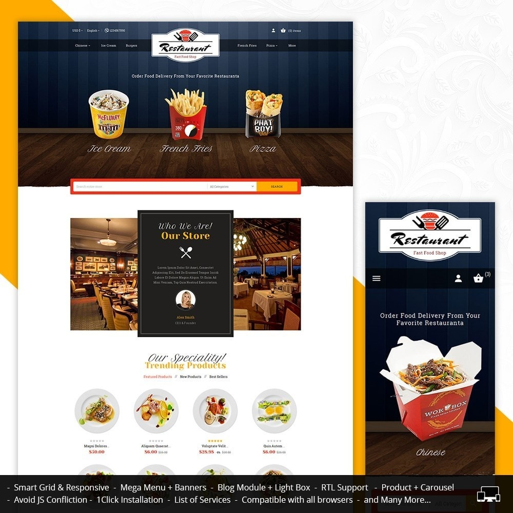 theme - Eten & Restaurant - Restaurant Food - 1
