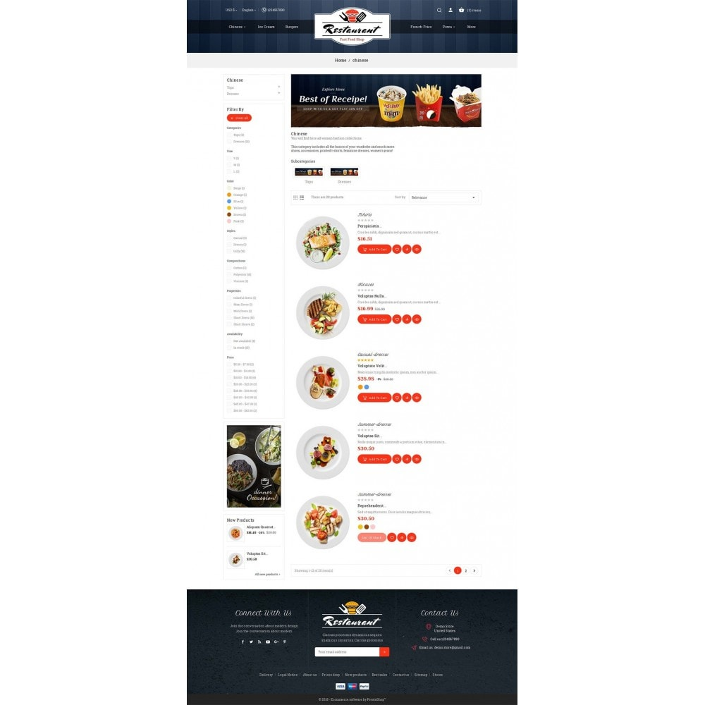 theme - Eten & Restaurant - Restaurant Food - 4