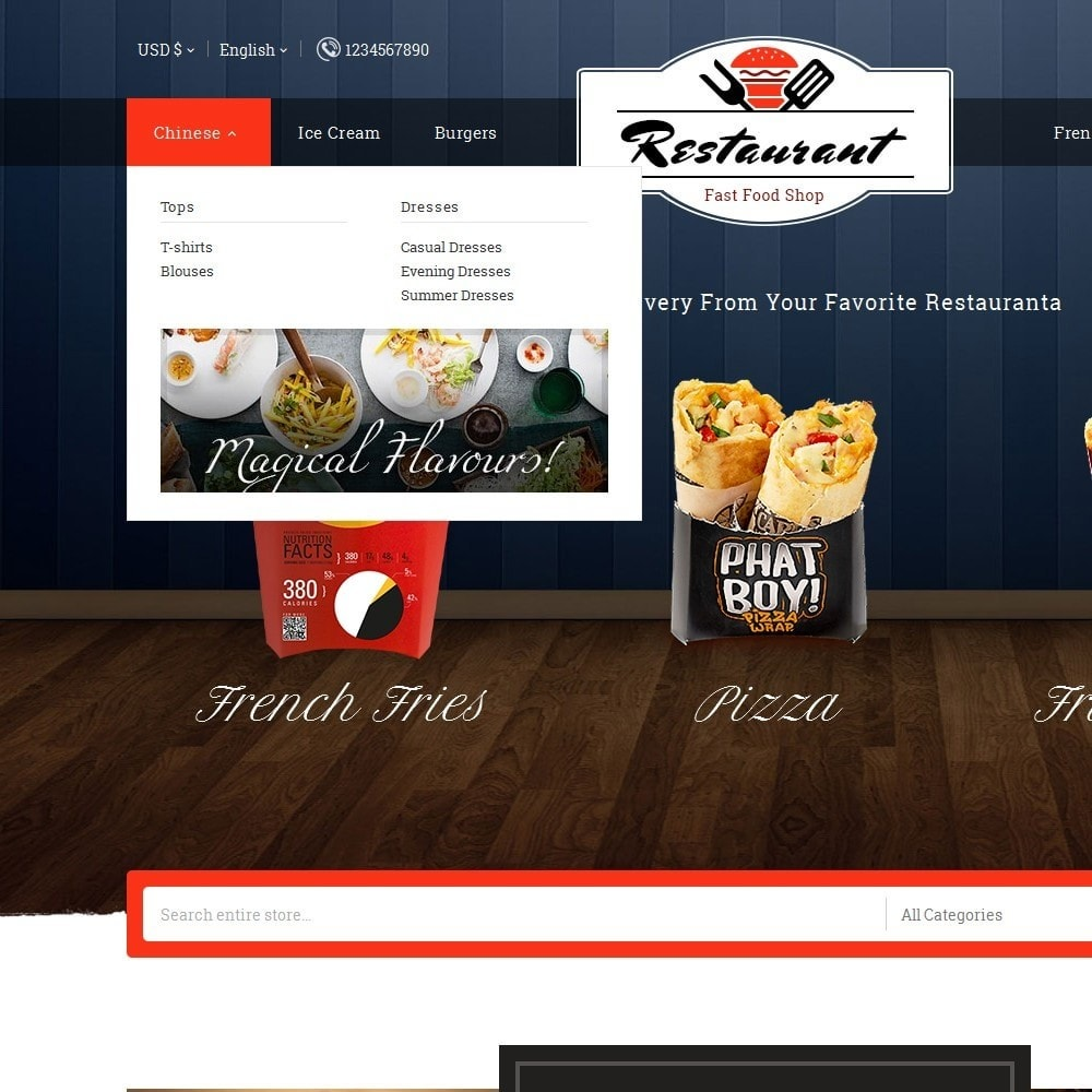 theme - Eten & Restaurant - Restaurant Food - 9