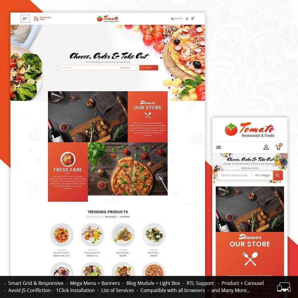 theme - Продовольствие и рестораны - Tomato Food & Restaurant - 1