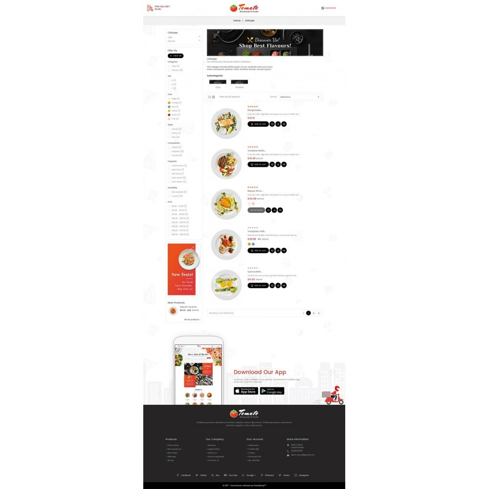 theme - Alimentos & Restaurantes - Tomato Food & Restaurant - 4