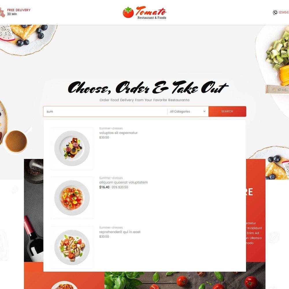 theme - Продовольствие и рестораны - Tomato Food & Restaurant - 10