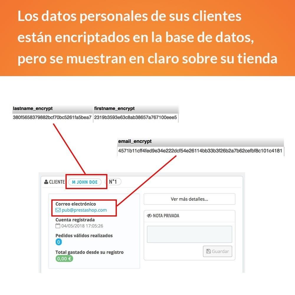 module - Marco Legal (Ley Europea) - RGPD - Ciframiento de los datos clientes - 2
