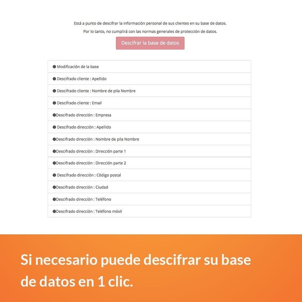 module - Marco Legal (Ley Europea) - RGPD - Ciframiento de los datos clientes - 3