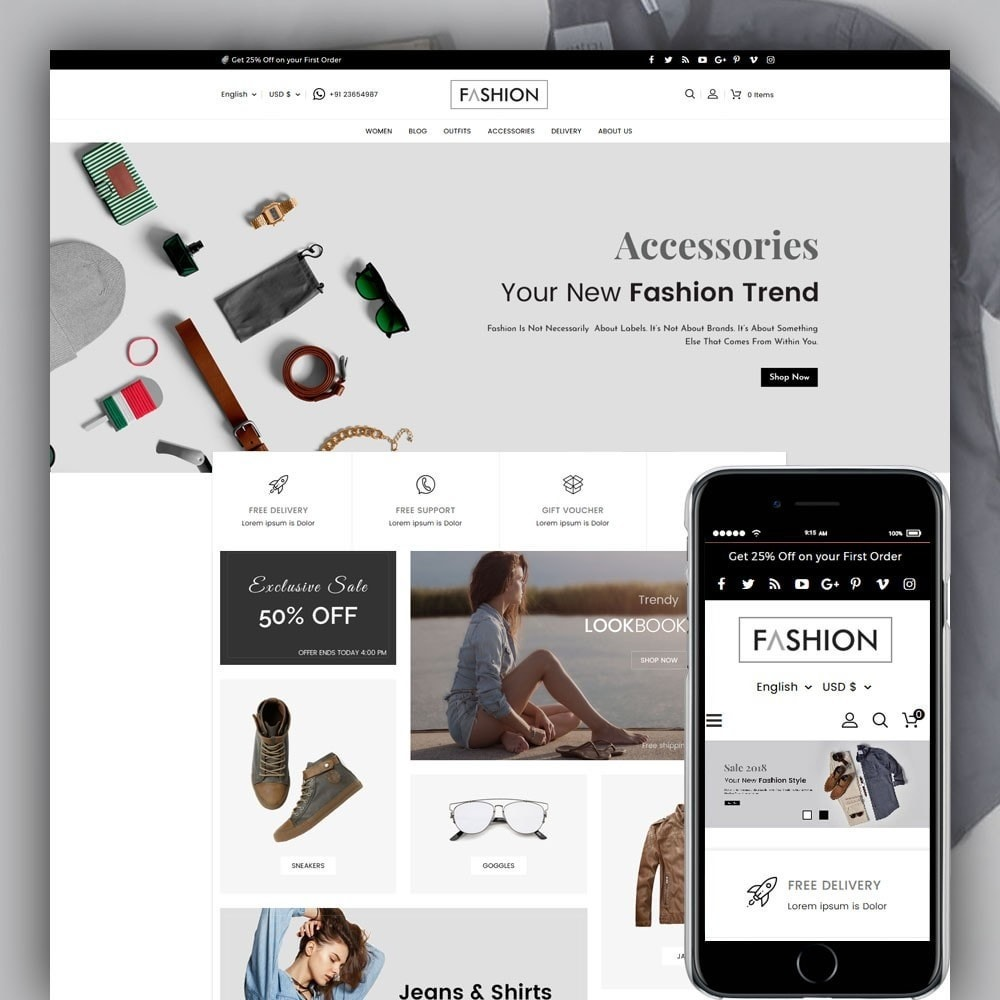 theme - Mode & Chaussures - Fashion Store - 1