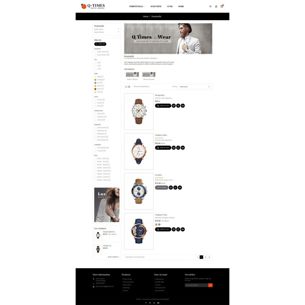 theme - Bijoux & Accessoires - Times Watch - 5