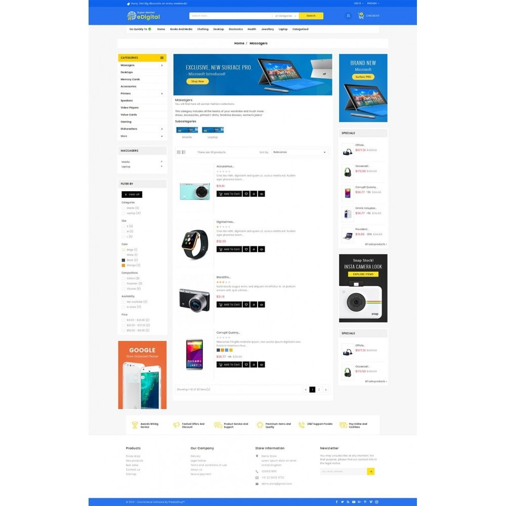theme - Electronique & High Tech - eDigital Mega Shop Electronics - 5