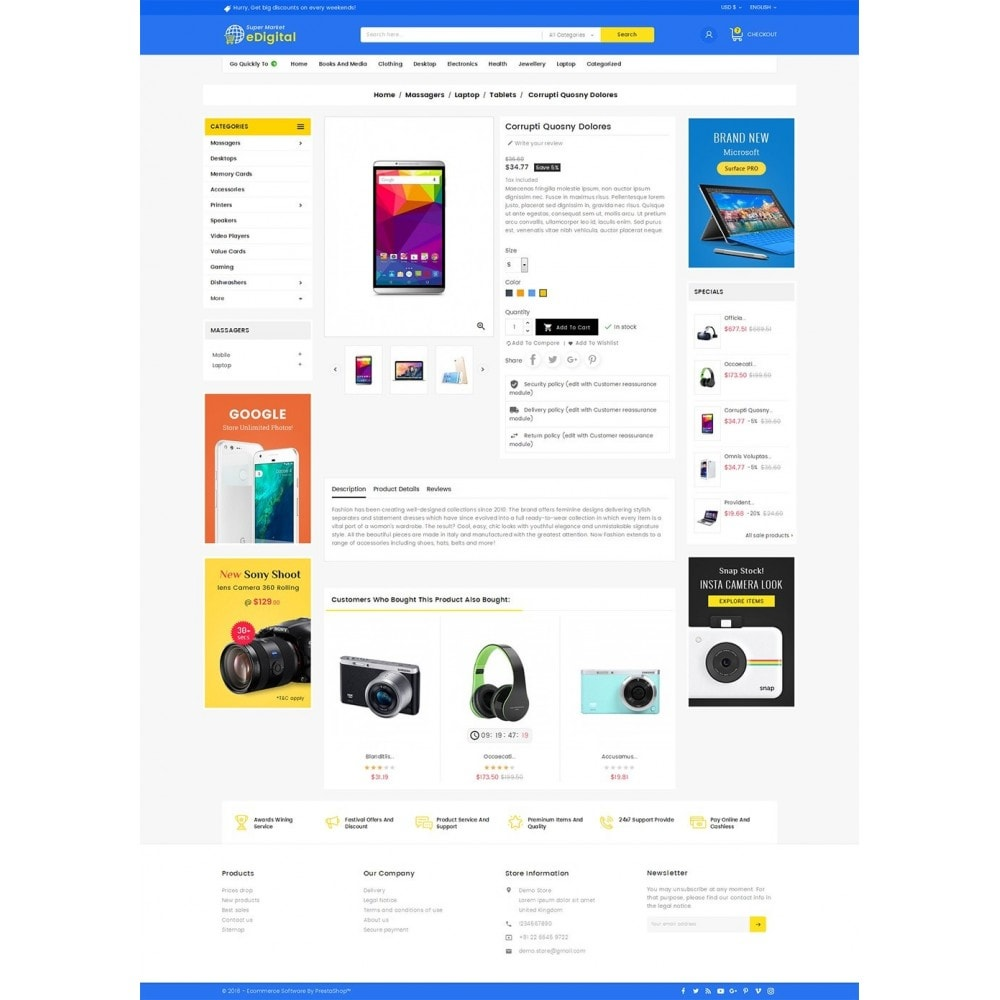 theme - Elektronik & High Tech - eDigital Mega Shop Electronics - 5