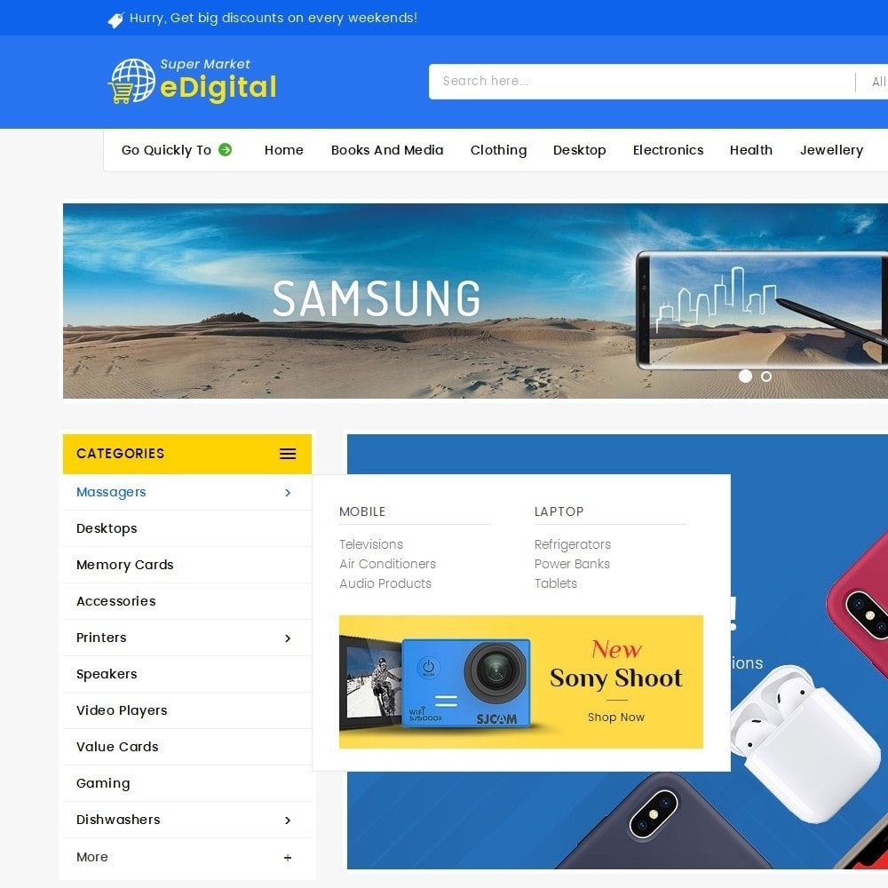 theme - Elektronik & High Tech - eDigital Mega Shop Electronics - 9