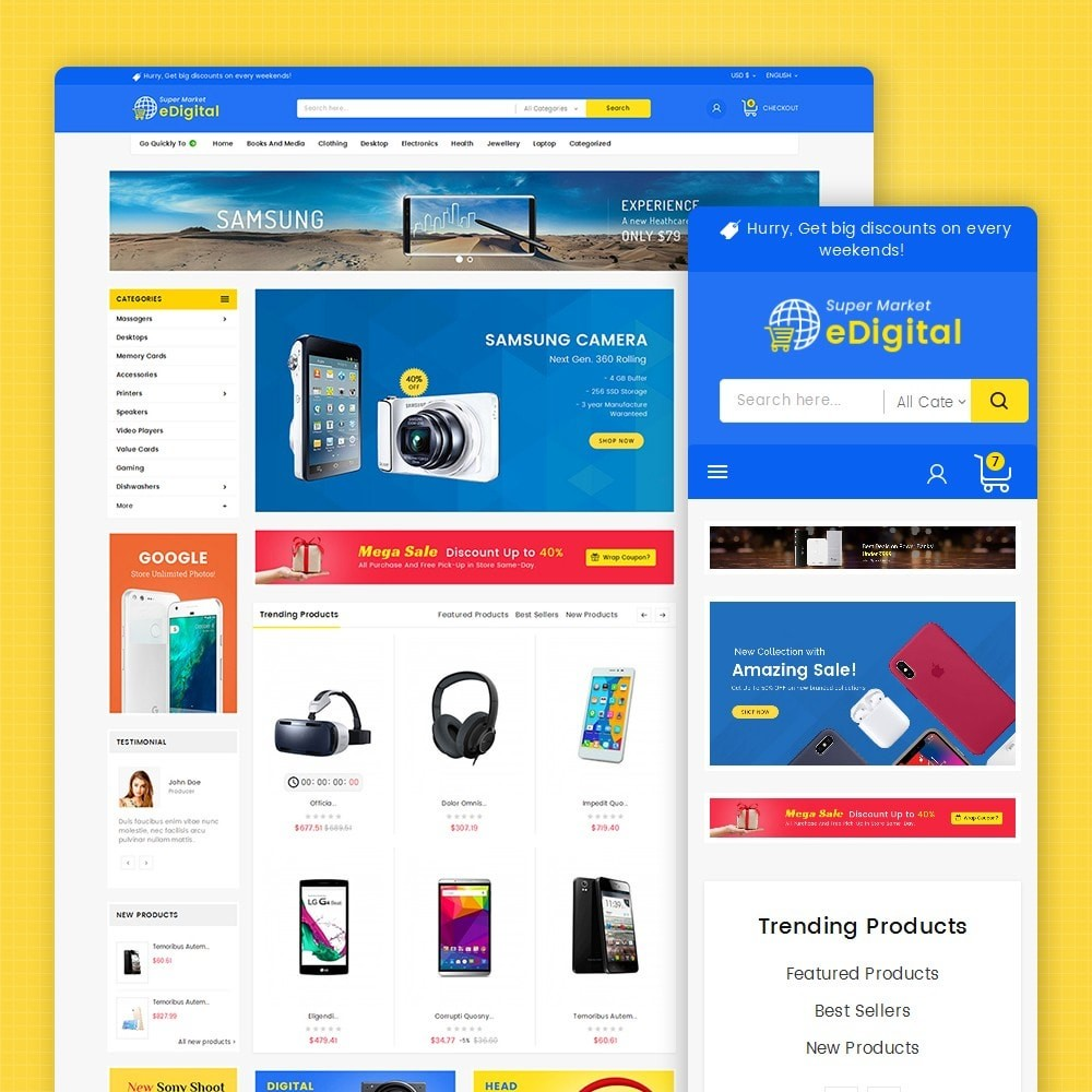 theme - Elettronica & High Tech - eDigital Mega Shop Electronics - 2