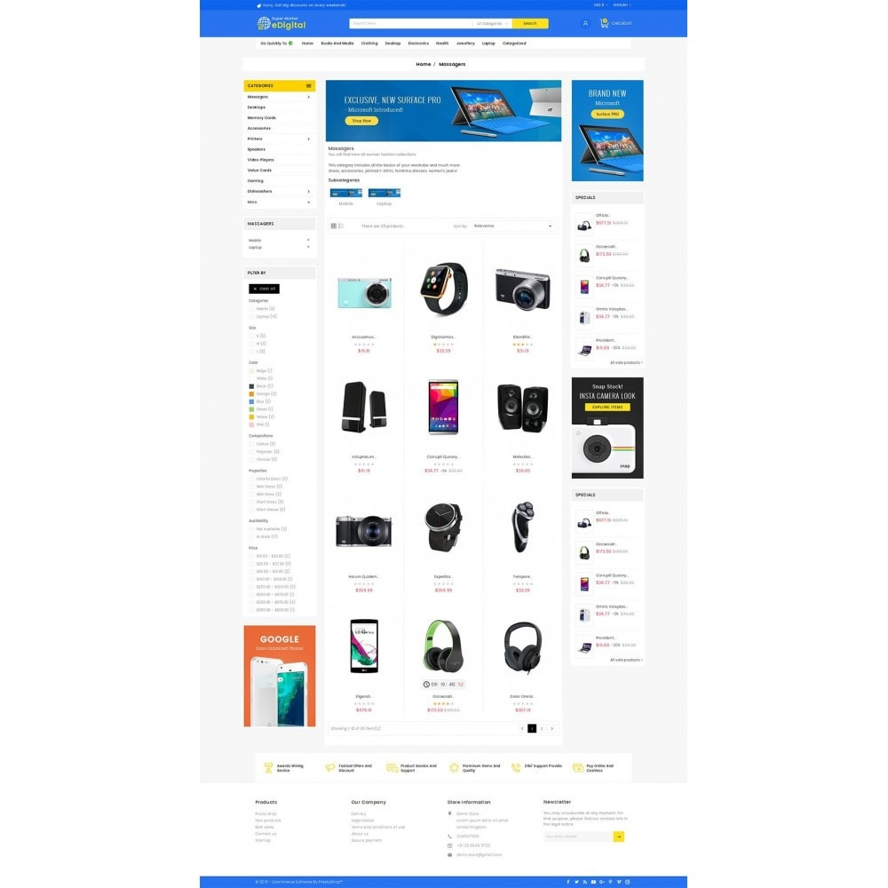 theme - Elettronica & High Tech - eDigital Mega Shop Electronics - 4