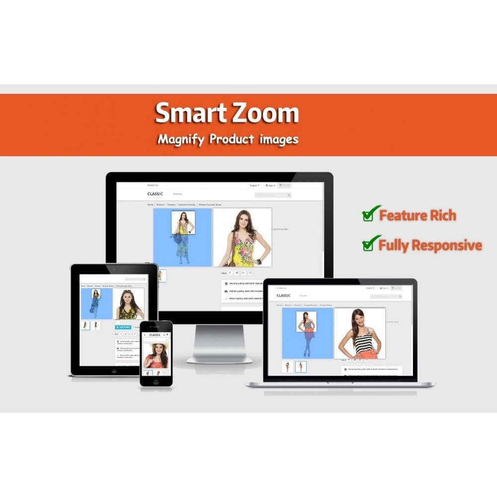 module - Visual dos produtos - Smart Zoom - Product Image Magnifier - 1