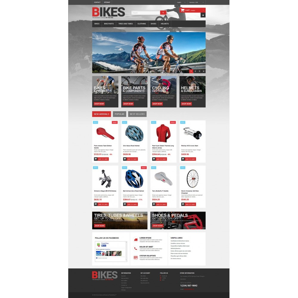theme - Desporto, Actividades & Viagens - Bikes Store - 2