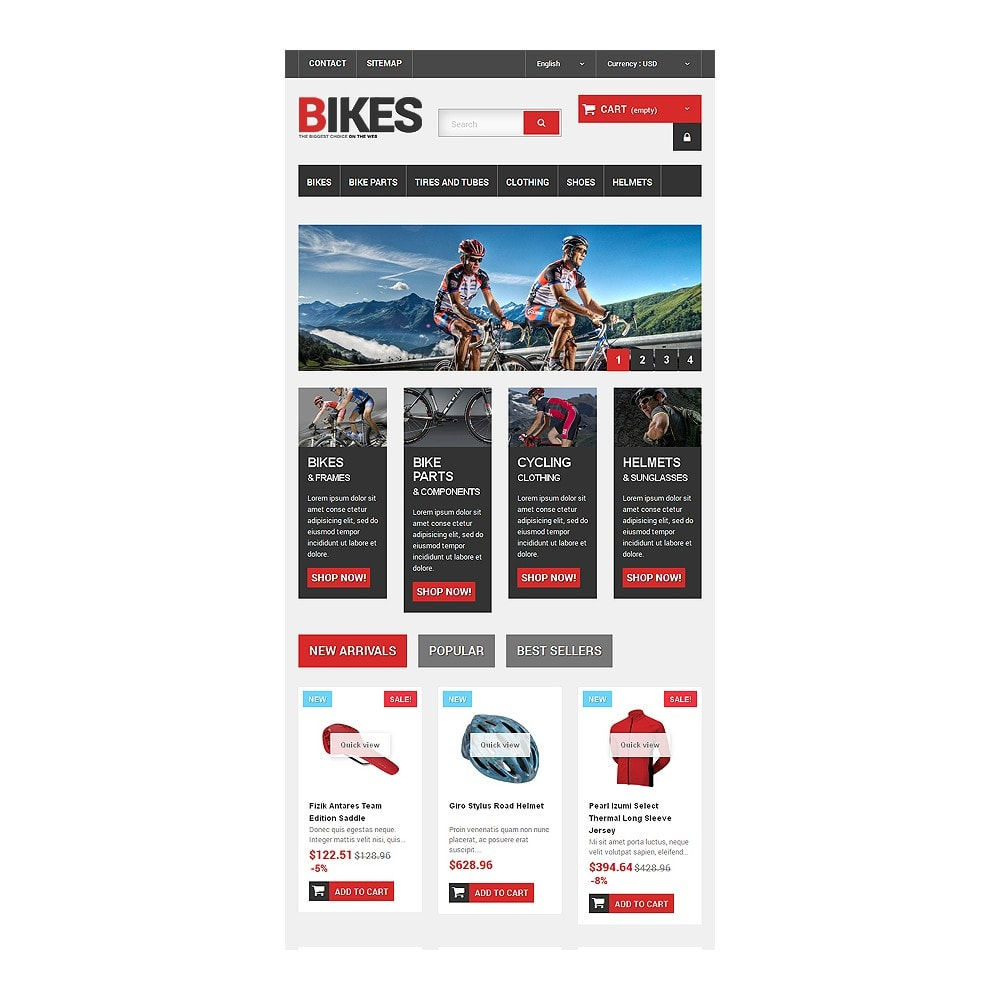 theme - Desporto, Actividades & Viagens - Bikes Store - 7