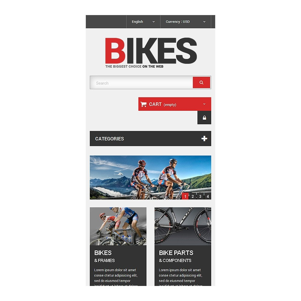 theme - Desporto, Actividades & Viagens - Bikes Store - 8