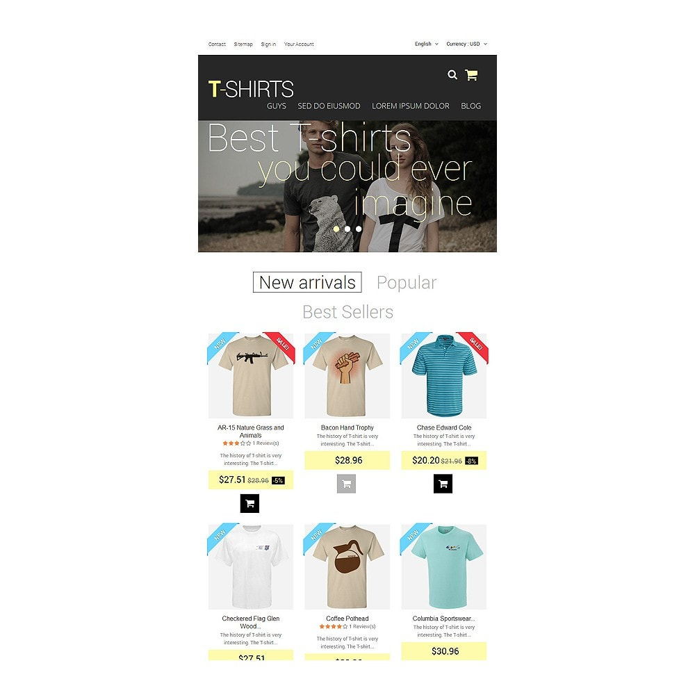 theme - Mode & Chaussures - T-Shirts - 7