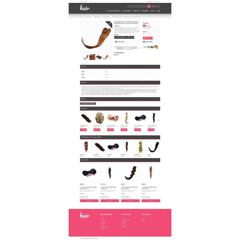 theme - Mode & Schuhe - Hair Extensions Store - 6
