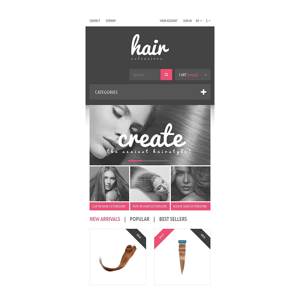 theme - Mode & Schuhe - Hair Extensions Store - 8