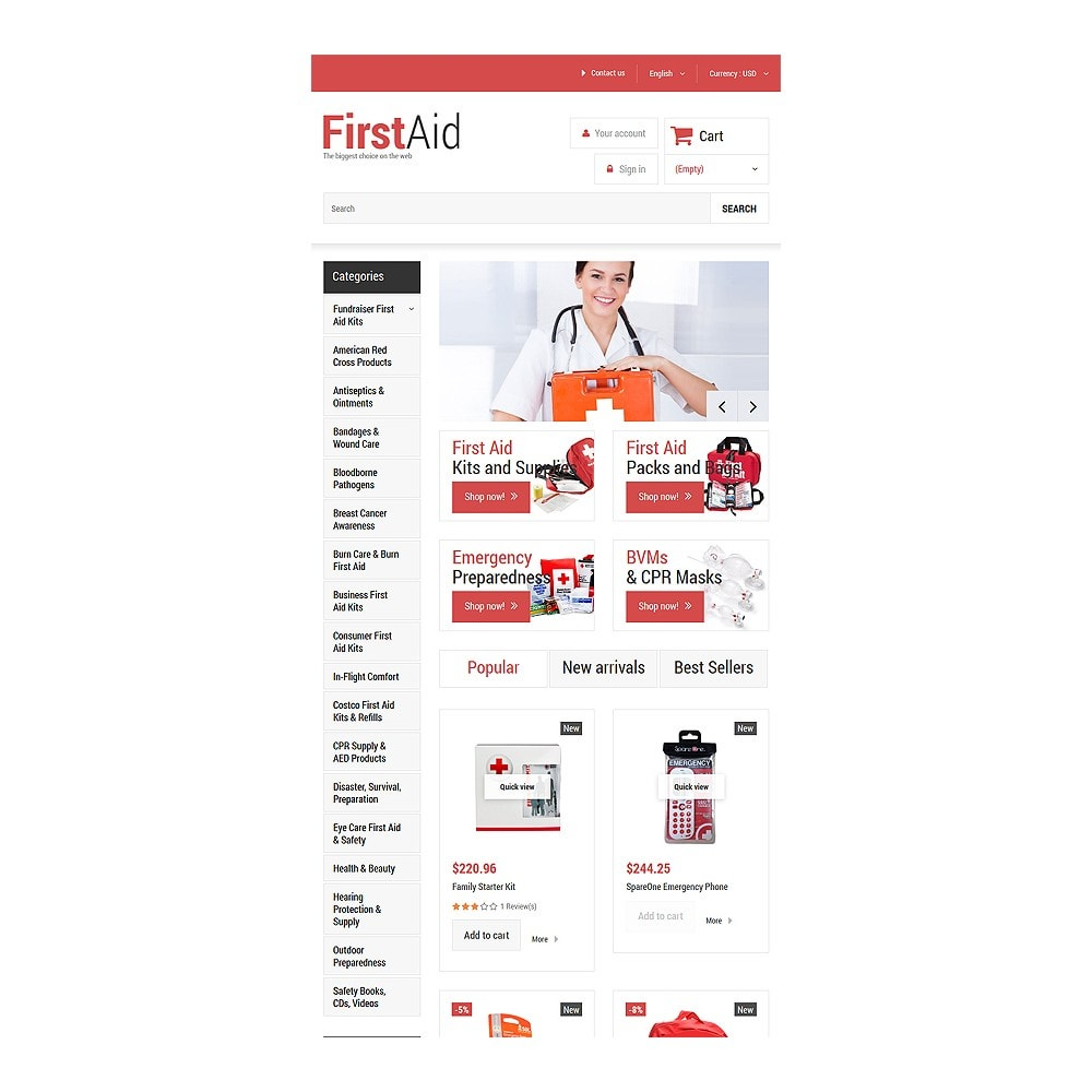 theme - Здоровье и красота - First Aid Store - 7