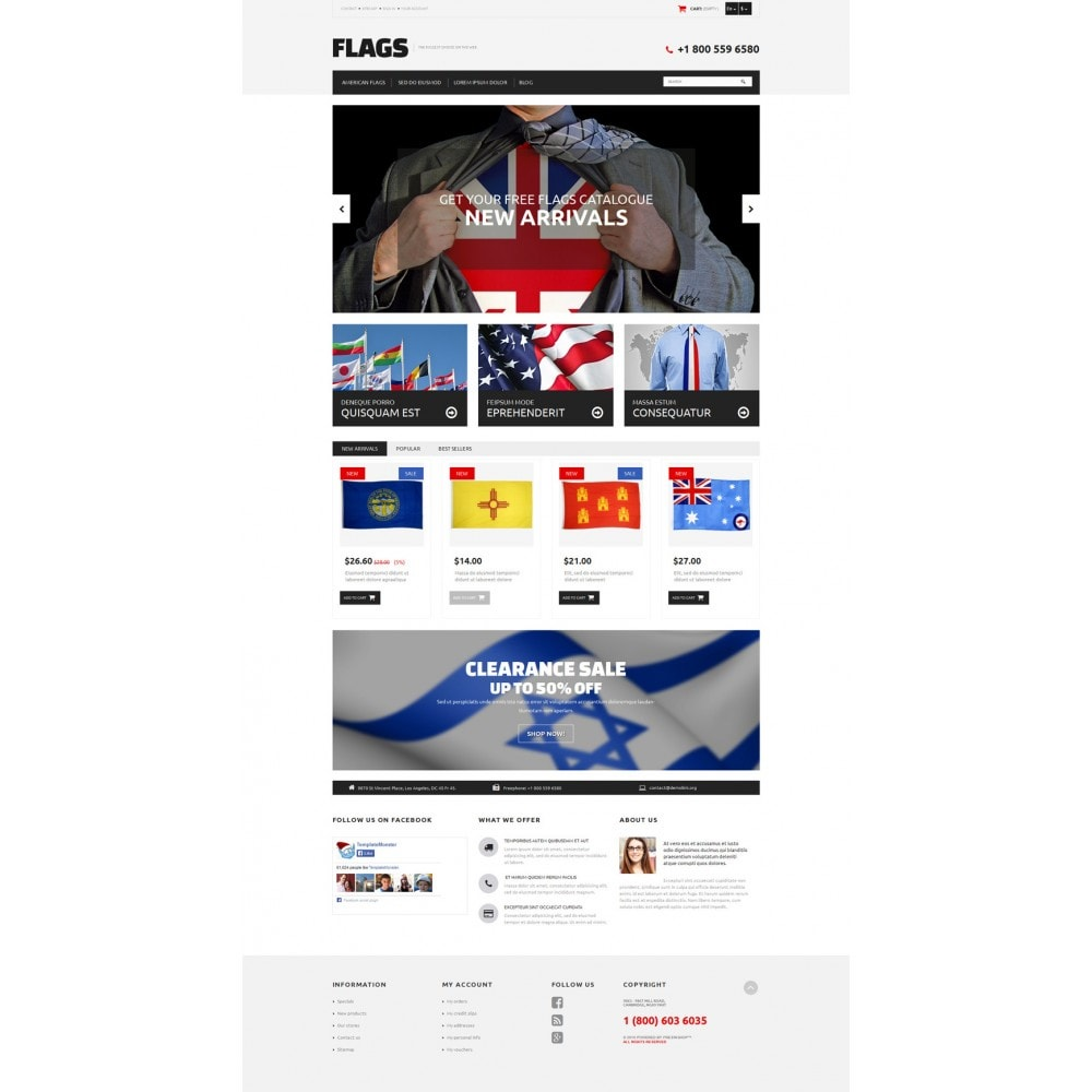 theme - PrestaShop Szablony - Flag Shop - 2