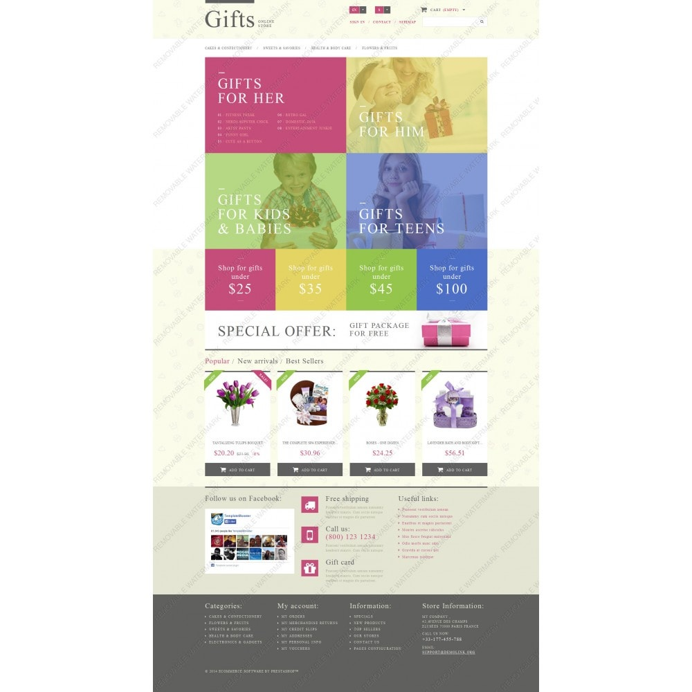 theme - Gifts, Flowers & Celebrations - Gift Shop - 3