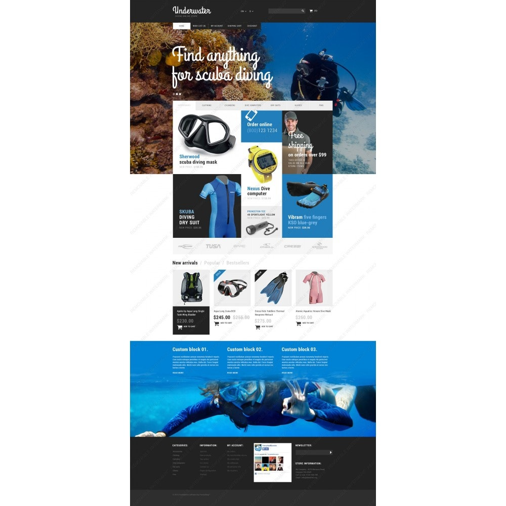 theme - Sports, Activities & Travel - Scuba Diving Equipment - 3
