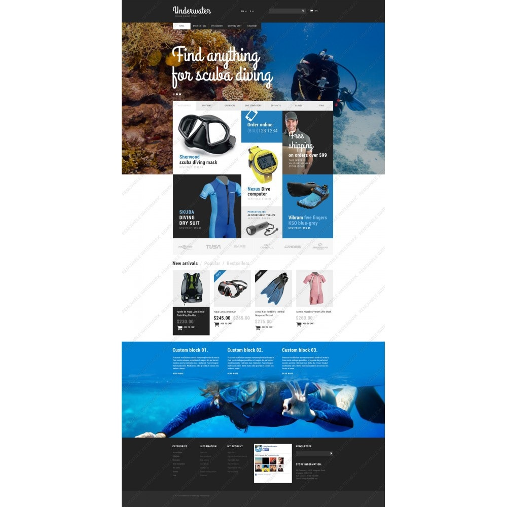 theme - Sports, Activities & Travel - Scuba Diving Equipment - 5