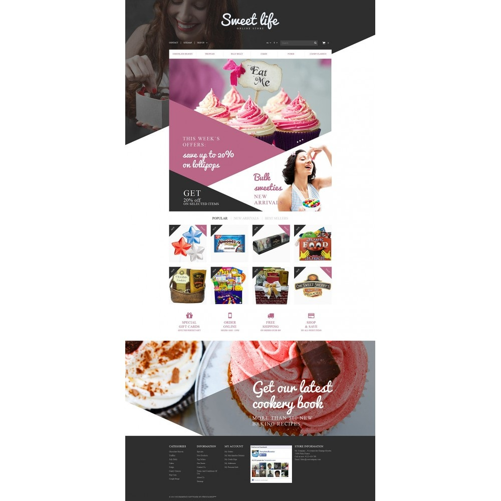 theme - Food & Restaurant - Sweets Shop - 2
