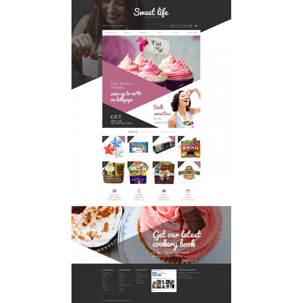 theme - Food & Restaurant - Sweets Shop - 4
