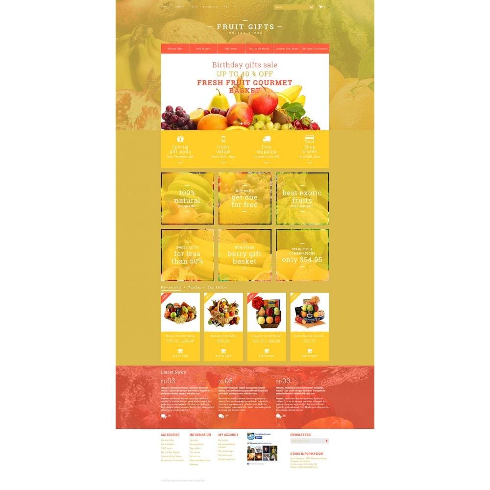 theme - Cadeaux, Fleurs et Fêtes - Fresh Fruit Gift Basket - 2