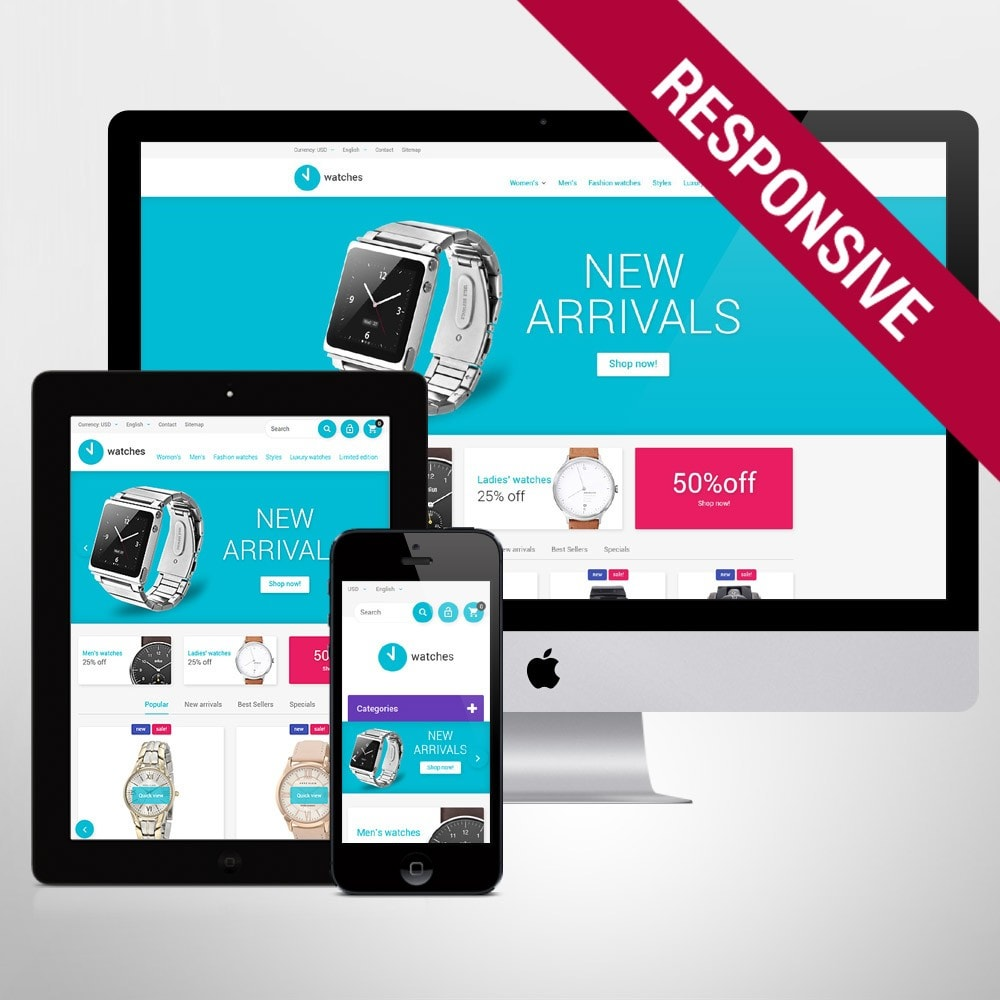 theme - Mode & Schoenen - Watches Store - 1